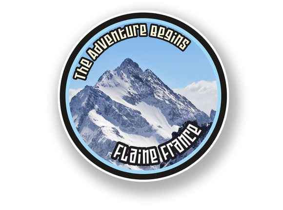 2 x Flaine France Vinyl Sticker Travel Mountain Ski Snowboard #7111
