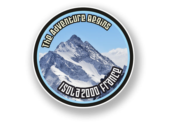 2 x Isola 2000 France Vinyl Sticker Travel Mountain Ski Snowboard #7112