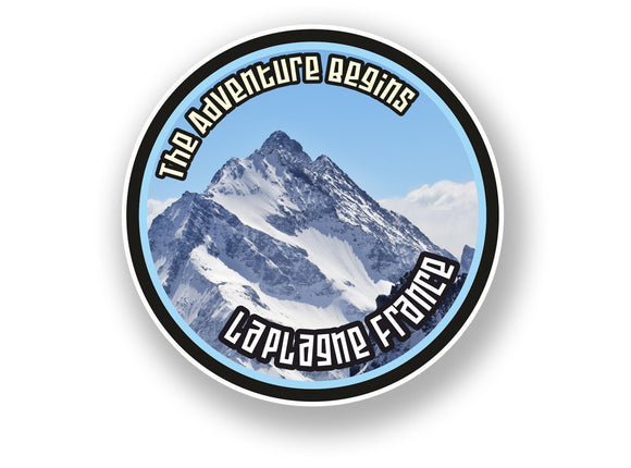 2 x La Plagne France Vinyl Sticker Travel Mountain Ski Snowboard #7114