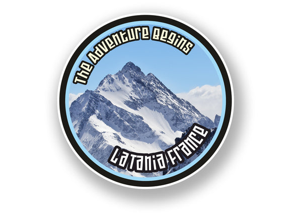 2 x La Tania France Vinyl Sticker Travel Mountain Ski Snowboard #7116