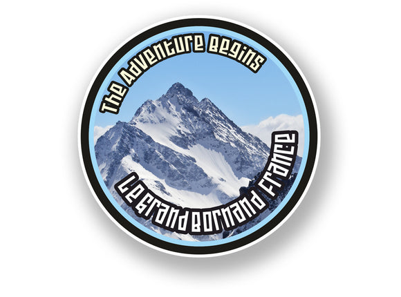 2 x Le Grand Bornand France Vinyl Sticker Travel Mountain Ski Snowboard #7117