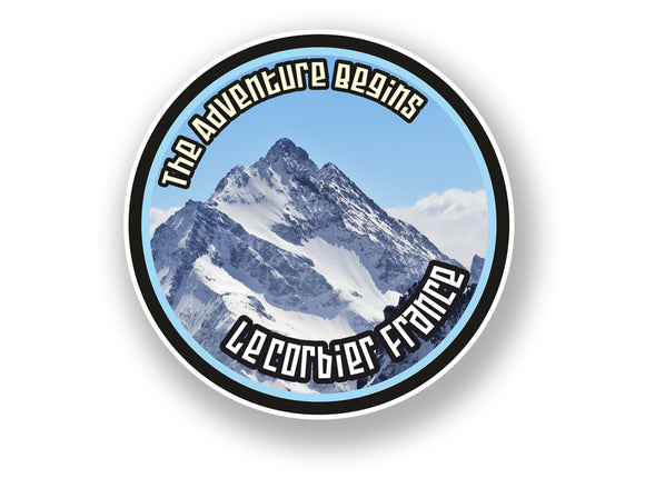 2 x Le Corbier France Vinyl Sticker Travel Mountain Ski Snowboard #7118
