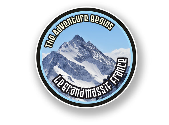 2 x Le Grand Massif France Vinyl Sticker Travel Mountain Ski Snowboard #7119