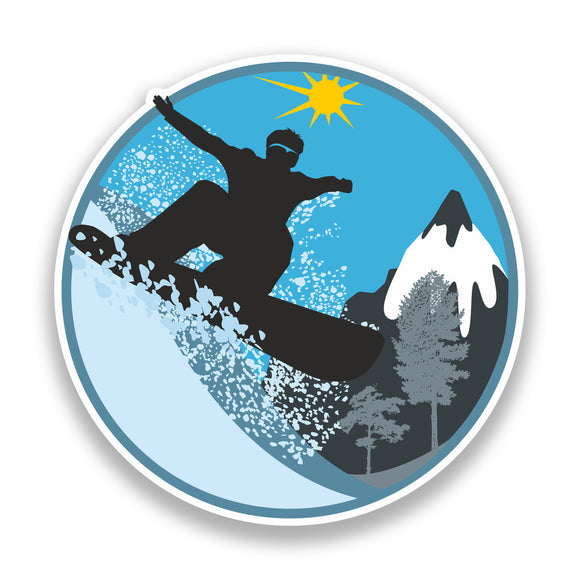 2 x Snowboarding Vinyl Sticker Extreme Thrill Seeker Travel Mountains #7134
