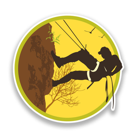2 x Rock Climbing Vinyl Sticker Extreme Thrill Seeker Travel #7135