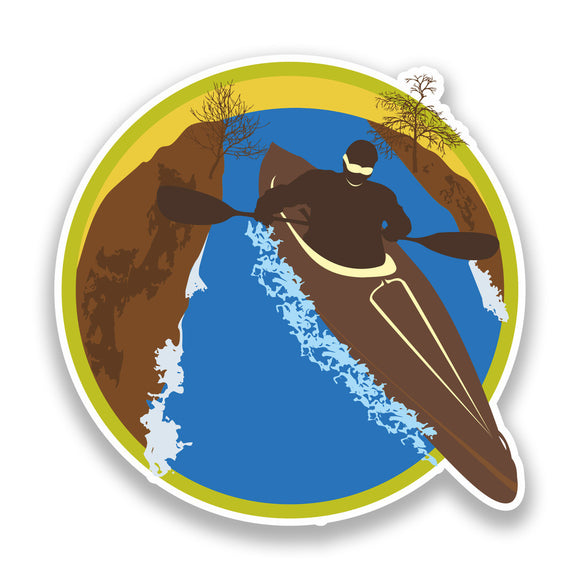 2 x Kayaking Vinyl Sticker Extreme Thrill Seeker Travel #7138