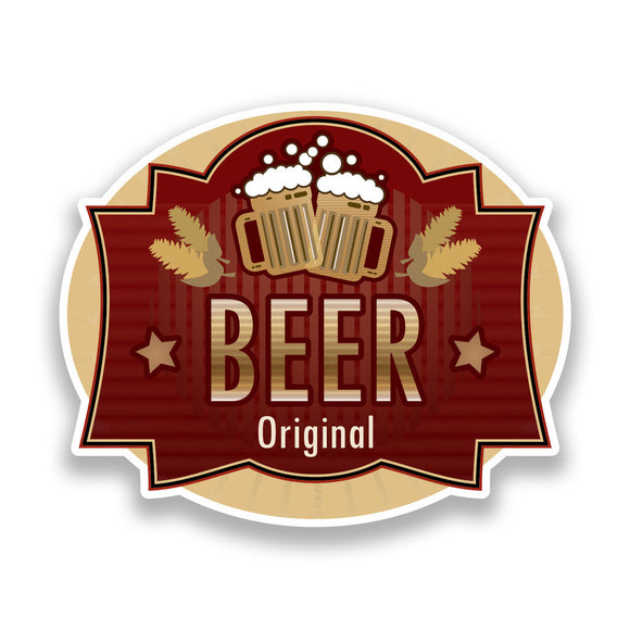 2 x Beer Original Vinyl Stickers Oktoberfest #7145