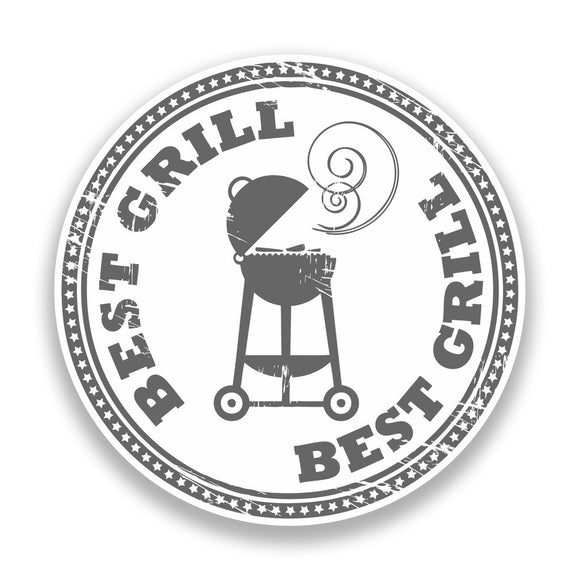 2 x BBQ Best Grill Vinyl Sticker Cooking Outdoors #7149