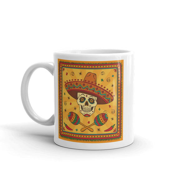 Sugar Skull High Quality 10oz Coffee Tea Mug #7166
