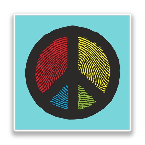 2 x Peace Symbol Vinyl Stickers Hippy #7180