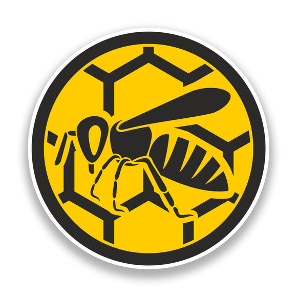 2 x Wasp Vinyl Stickers Insects Bugs Bees #7183