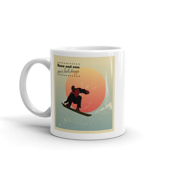 Snowboarding High Quality 10oz Coffee Tea Mug #7196