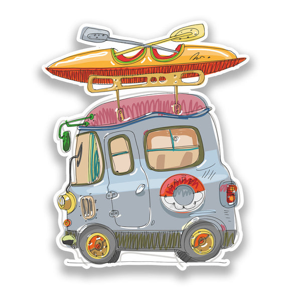 2 x Camper Van Vinyl Stickers Travel Luggage #7200