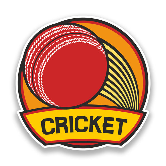 2 x Cricket Vinyl Stickers Sports #7232