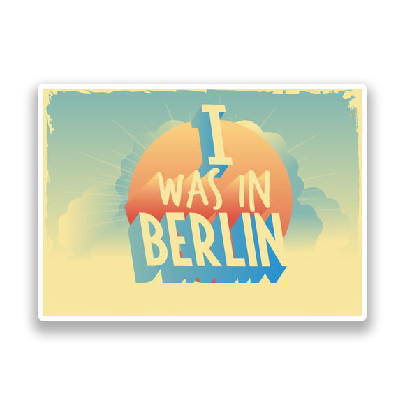 2 x I Was In Berlin Vintage Vinyl Stickers Travel Luggage #7273