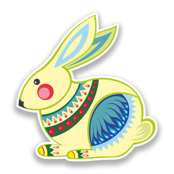 2 x Easter Rabbit Vinyl Stickers Holidays Decoration #7303