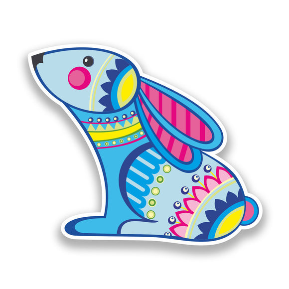 2 x Easter Rabbit Vinyl Stickers Holidays Decoration #7305