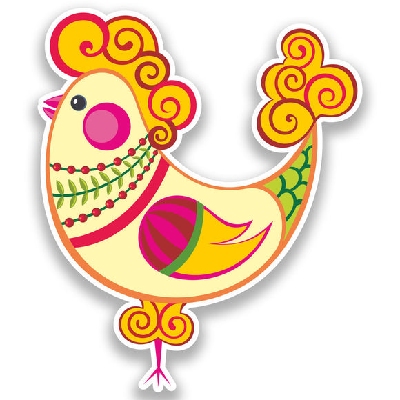2 x Easter Chicken Vinyl Stickers Holidays Decoration #7306