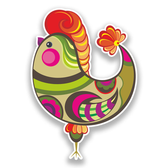 2 x Easter Chicken Vinyl Stickers Holidays Decoration #7307
