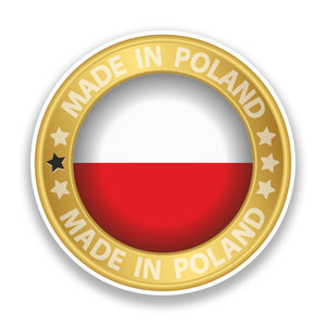 2 x Made in Poland Vinyl Stickers #7309