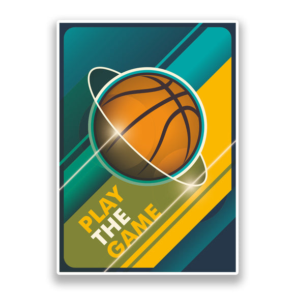 2 x Basketball Vinyl Stickers Sports #7322