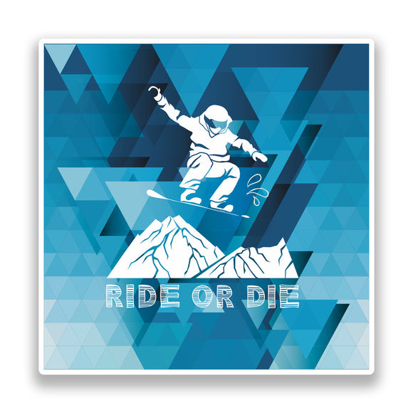 2 x Snowboarding Vinyl Stickers Extreme Thrill Seeker Travel Mountains #7345