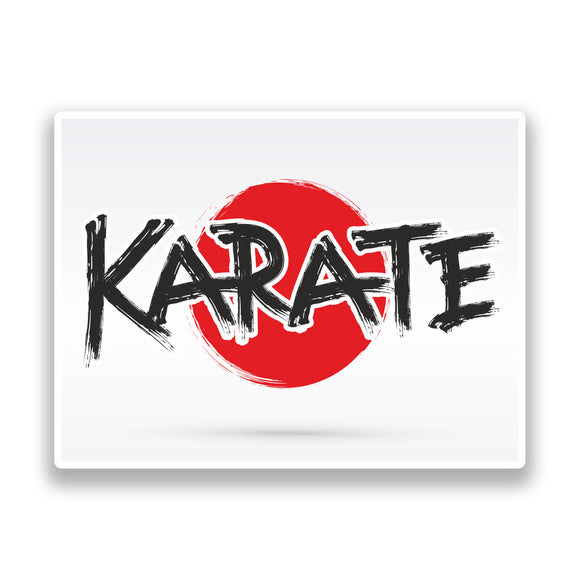 2 x Karate Vinyl Stickers Travel Luggage #7350