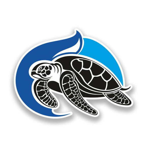 2 x Tribal Turtle Vinyl Stickers Travel Luggage Sea Animals #7368