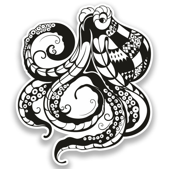 2 x Octopus Vinyl Stickers Travel Luggage Sea Animals #7372