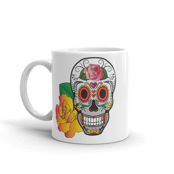 Sugar Skull Mexico Festival Day of the Dead High Quality 10oz Coffee Tea Mug #7382