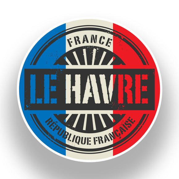 2 x France Le Havre Vinyl Stickers Travel Luggage #7384