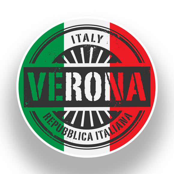 2 x Italy Verona Vinyl Stickers Travel Luggage #7386