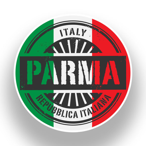 2 x Italy Parma Vinyl Stickers Travel Luggage #7387