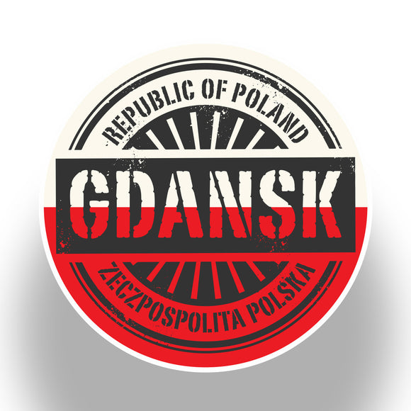 2 x Poland Gdansk Vinyl Stickers Travel Luggage #7395