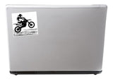 2 x Motorbike Vinyl Stickers Bikers Travel Luggage #7396