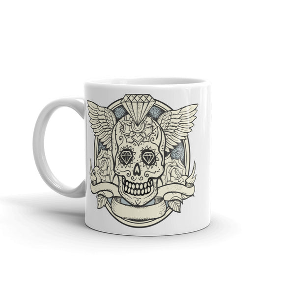 Skull with Wings Scary Halloween High Quality 10oz Coffee Tea Mug #7398