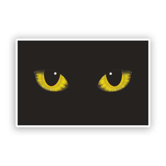 2 x Cats Eyes Vinyl Stickers Scary Halloween Decoration #7408