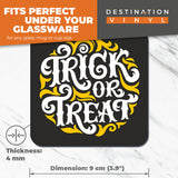 Great Coasters (Set of 2) Square / Glossy Quality Coasters / Tabletop Protection for Any Table Type - Trick or Treat Halloween Holidays  #7420