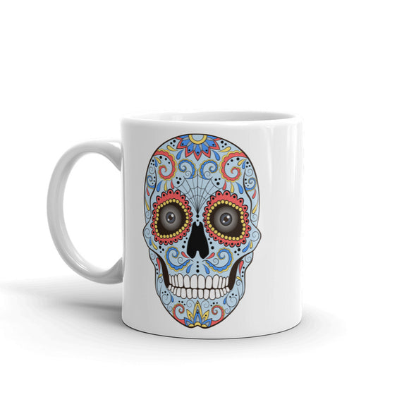 Sugar Skull with Eyes Mexico Festival Day of the High Quality 10oz Coffee Tea Mug #7429