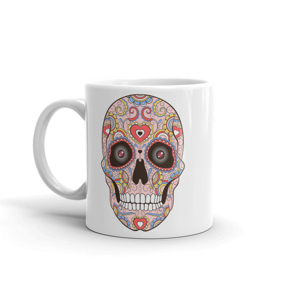 Sugar Skull with Eyes Mexico Festival Day of the High Quality 10oz Coffee Tea Mug #7433