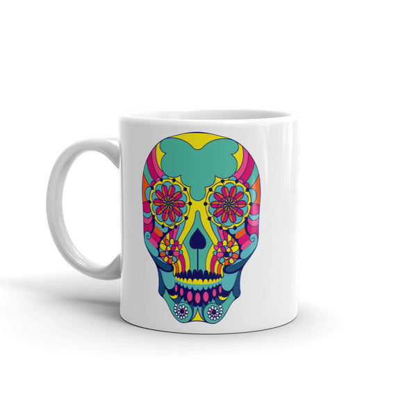 Sugar Skull Mexico Festival Day of the High Quality 10oz Coffee Tea Mug #7434