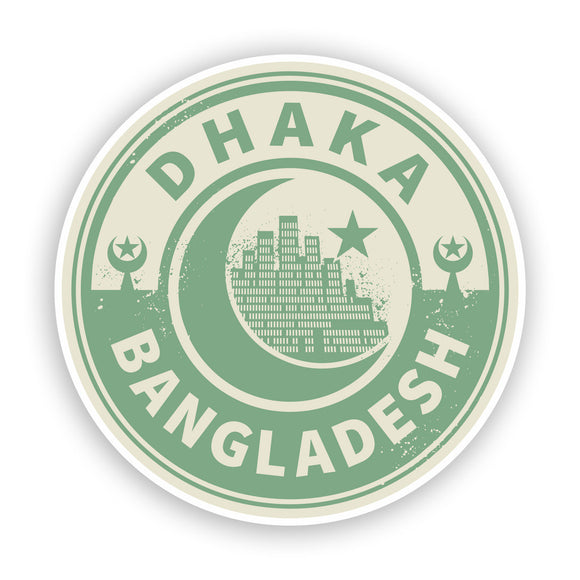 2 x Bangladesh Dhaka Vinyl Stickers Travel Luggage #7440