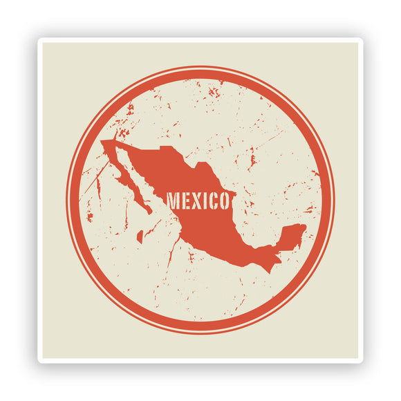 2 x Mexico Vinyl Stickers Travel Luggage #7466