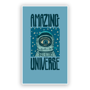 2 x Amazing Universe Vinyl Stickers Space UFO #7496