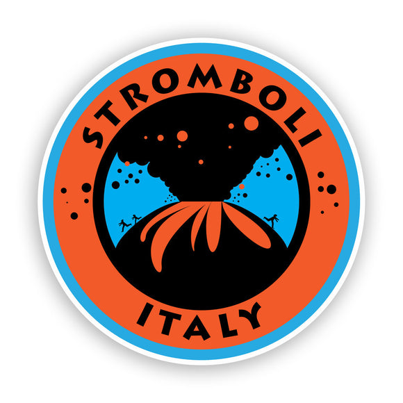 2 x Stromboli Italy Tyrrhenian Sea Volcano Travel Luggage #7500