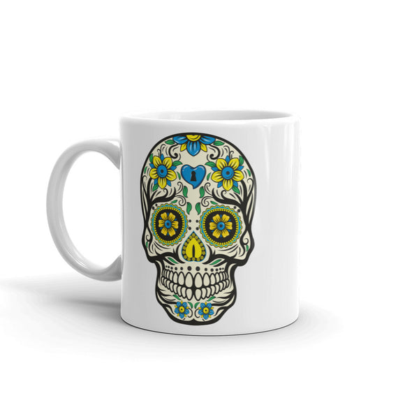 Sugar Skull Scary Horror Halloween High Quality 10oz Coffee Tea Mug #7513