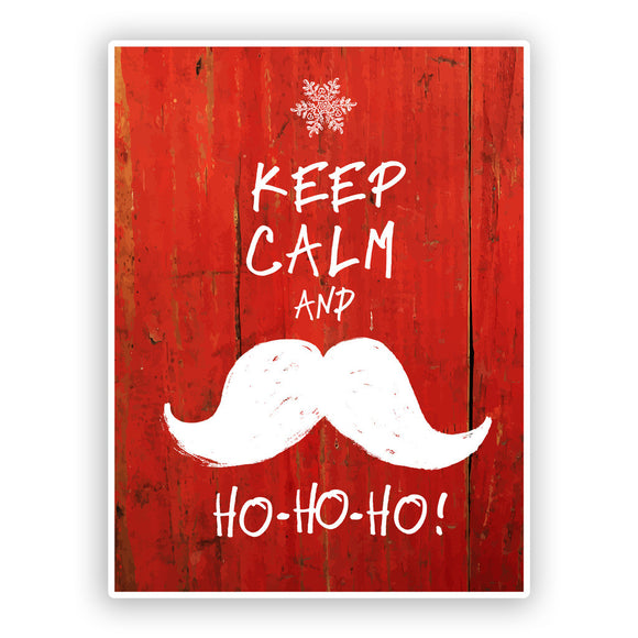 2 x Keep Calm and HO HO HO Vinyl Sticker Christmas #7539
