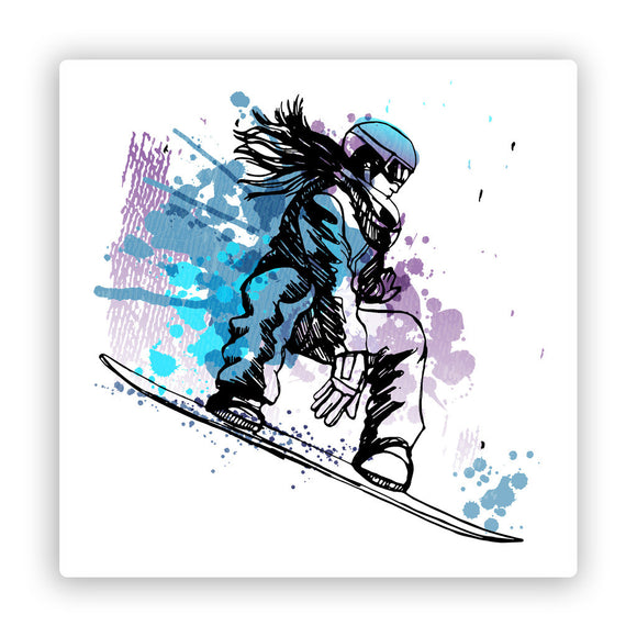 2 x Snowboarding Vinyl Stickers Extreme Thrill Seeker Travel Mountains #7592