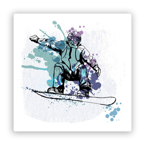 2 x Snowboarding Vinyl Stickers Extreme Thrill Seeker Travel Mountains #7593