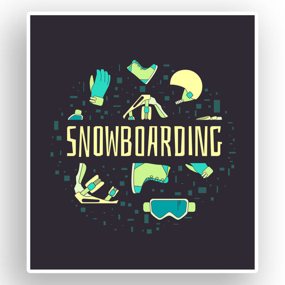 2 x Snowboarding Vinyl Stickers Extreme Thrill Seeker Travel Mountains #7632